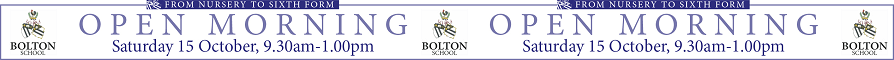 Open Morning at Bolton School 15 October 2016