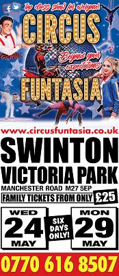 Circus Funtasia comes to Swinton, Manchester