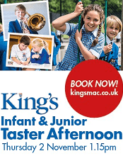 The Kings School in Macclesfield Infant and Junior Taster Afternoon