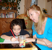 Children's specialist Sara Wurava in one to one child's session