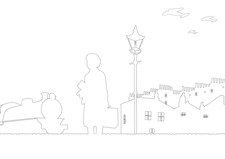 City Scene Colouring Page