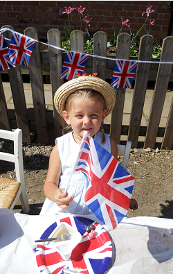 Child looking forward to celebrate Queen's Diamond Jubilee