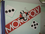 monopoly mural for child playroom