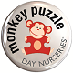 Monkey Puzzle Day Nursery Badge Logo
