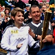 Claudia Thomas With Olympic Torch