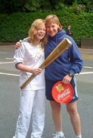 Sasha Carter and Mrs Mhairi Ferrol Withington Girls' School's Head of PE