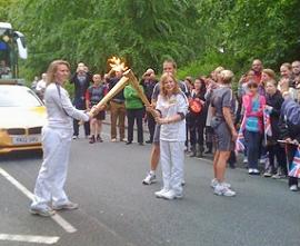 Sasha Carter Lighting Up Olympic Flame at Hers 19th Birthday