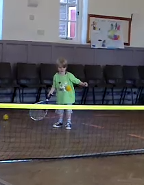 Children as young as 2 learn tennis at Tennis Tykes
