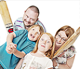 Win Venture Family Photoshoot - Family Fun with Cricket Photo