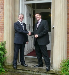 Pat Barrett (Left) hands over the reins to new Head Paul Berry