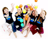 Children Playing Coloured Balls (Example of Photo for Competition)