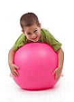 Boy on a Big Ball (Promotional Photo, Enjoy-a-Ball)