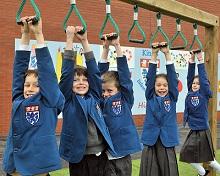 The King's School Juniors Enjoying New Playground
