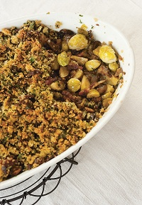 Brussels Sprouts with a Stuffing Crust