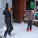 Kids Enjoying Snowball Fight