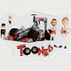 3D Stickers TOONED Characters from McLaren On Line Store