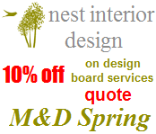 10% discount from Nest Interior Design to Mums and Dads readers