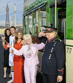 Madame Tussauds, Blackpool, Celebrity Wax Figures - Cheryl Cole, David Beckham, Barbara Windsor, Davina McCall and Benny Hill