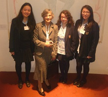 Dr Francisca Wheeler with girls from WGS, Winners at the British Physics Olympiad 2013