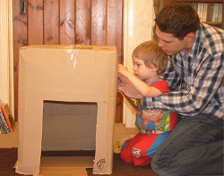 Father Figure | Cardboard Board Box Play 3