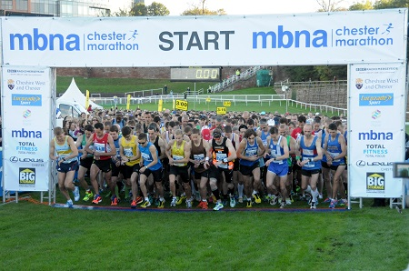 Race start - 2013 MBNA Chester Marathon