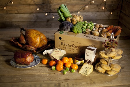 Riverford Christmas hamper with meat