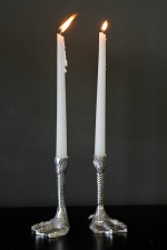 Duck feet candle holders - just right for festive season