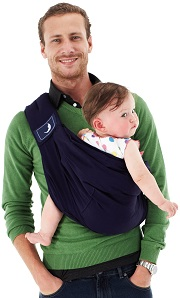 The Baba Sling - Classic Deep Blue |Dad Carrying a Toddler