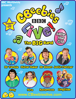 CBeebies Live! The Big Band New Show | New Cast | Easter Tour 2014