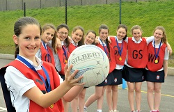 U12 Netballers County Champions | The King's School in Macclesfield