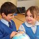 School Children with a Globe
