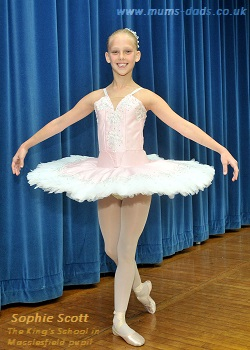 Sophie Scott who won a scholarship to appear with the English Youth Ballet