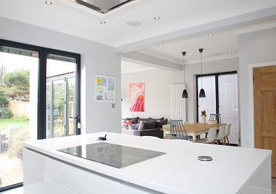 Seamless kitchen-dining-living space | Nest Interior Design