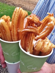 Freshly cooked sugary-hot churros straight from the fryer | Foodies Festival at TattonPark, 2014