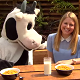 Channel 5's Milkshake presenter Olivia Birchenough on videoshoot for Creamline Dairies on World School Milk Day.