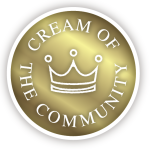 Cream of the Community Award Logo
