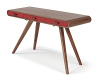 Fonteyn Console Desk, Walnut Red