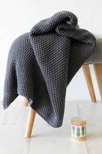 Cosy Moss Stitch Cotton Throw from Rockett St George