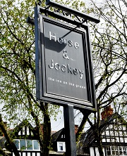 Sign for Horse and Jockey Inn, Chorlton