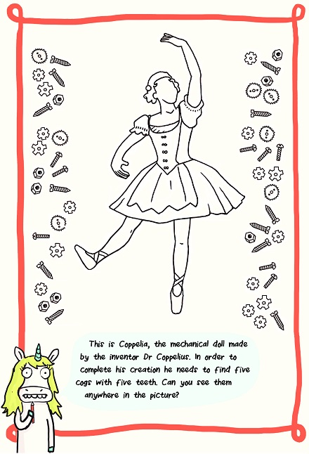 First Step Coppelia Colouring Page