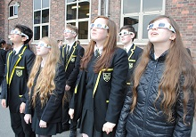 Senior School pupils at SGS are watching the solar eclipse.