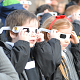 Junior children at SGS are watching solar eclipse.