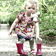 Toddler Girl tries to put her boots on| Raising Resilient Kids