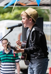 Henry Gallagher on Talent Show at Bramhall Festival 2014, photo by Inspiral Photography