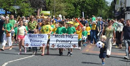 Parade at Bramhall Festival 2014