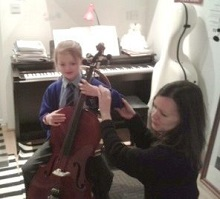 Colourstrings lesson with Melanie Jones