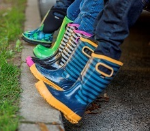 Kids Rainboot Stripe Wellies by BOGS