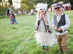 Children dressed up for Run Wild, Child festival