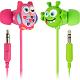 My Doodles In-Ear Headphones, owl and alien characters