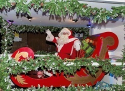Santa Claus on the sleigh - Christmas decoration at Bramhall